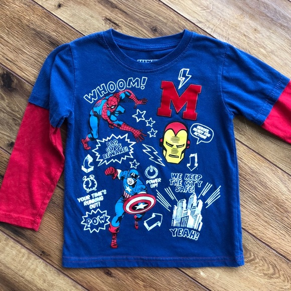 Long Sleeve T-shirts Toddler Boys Size 2 Tops